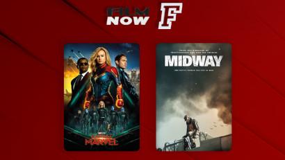 """Noi premiere în luna mai la Film Now - """"Captain Marvel"""" și """"Midway"""""""