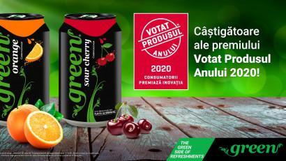 Băuturile răcoritoare din gama Green Flavors de la Green Cola,votate Produsul Anului 2020