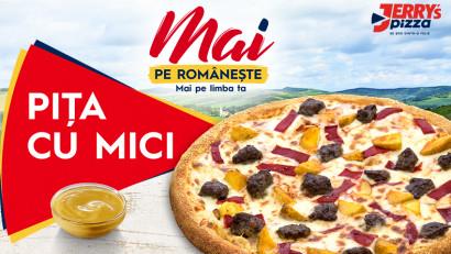 Jerry's Pizza românizează din nou pizza.După succesul pizzei cu sarmale, introduce Pița cu Mici