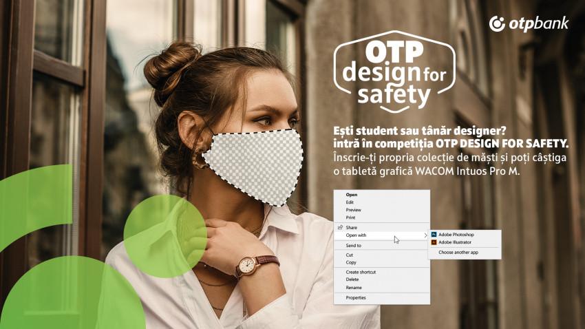 Provocarea creativă OTP DESIGN FOR SAFETY, concurs de design de măști. Ce au în comun măștile de protecție și coolness-ul?