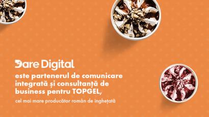 Dare Digital este partenerul de comunicare integrată și consultanță de business pentru TOPGEL - cel mai mare producător român de înghețată