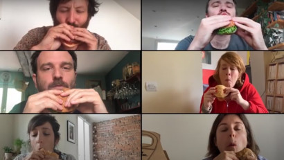 6 comedianti mananca un burger