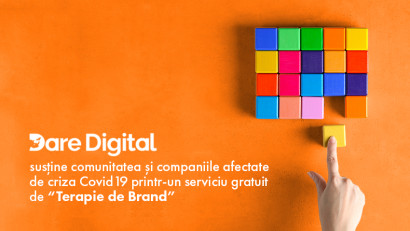"""Dare Digital susține comunitatea și companiile afectate de criza covid19 printr-un serviciu gratuit de """"Terapie de brand"""""""