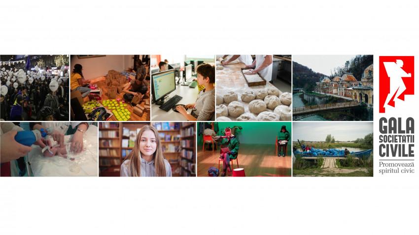 Categoria Proiecte pentru Tineret a înregistrat cele mai multe înscrieri în competiția Gala Societății Civile 2020- Timiș, Cluj și Brașov sunt județele fruntașe la înscrierile din afara Bucureștiului