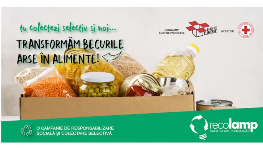 Recolamp transformă deșeurile în energie.În următoarele 3 luni, becurile arse se transformă în alimente pentru persoanele defavorizate