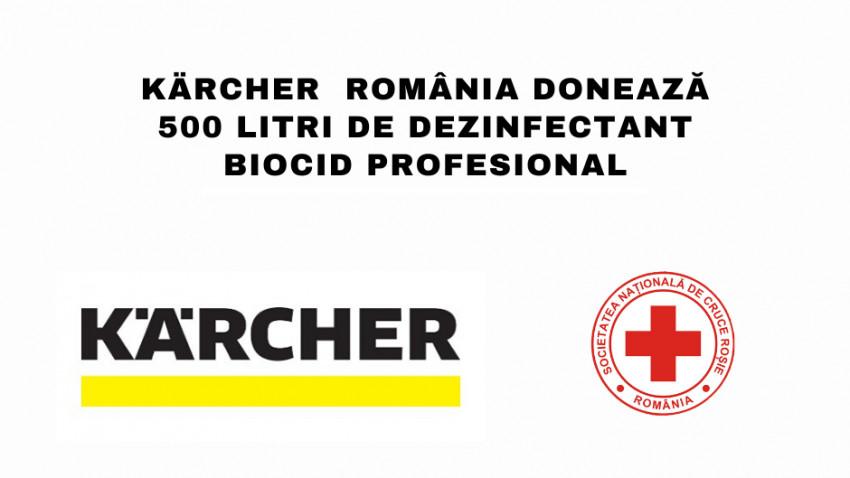Kärcher România donează dezinfectant biocid profesional, prin intermediul Crucii Roșii Române, în contextul Covid-19