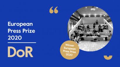 Redacția DoR, premiul pentru Inovație la European Press Prize