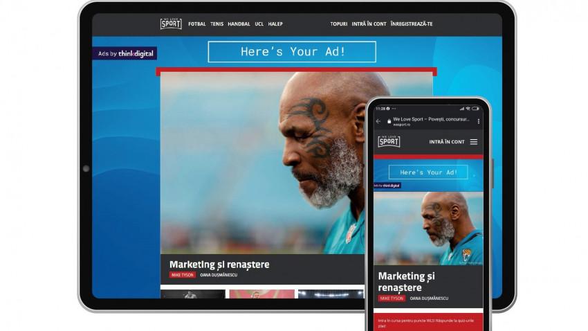 WeSport, un nou site realizat de nume importante ale presei sportive din România, se alătură rețelei Thinkdigital