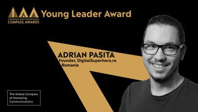 IAA anunță câștigătorii Champion și Young Leader Compass Awards 2020. Adrian Pașita, premiat cu Young Leader Award pentru contribuțiile sale în comunitatea IAA YP și industria Marcom