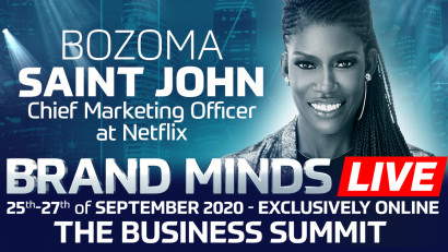 Netflix's CMO, Bozoma Saint John joins BRAND MINDS LIVE 2020! Last days of special price.