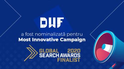 DWF este finalistă la Global Search Awards pentru cea mai inovatoare campanie SEO