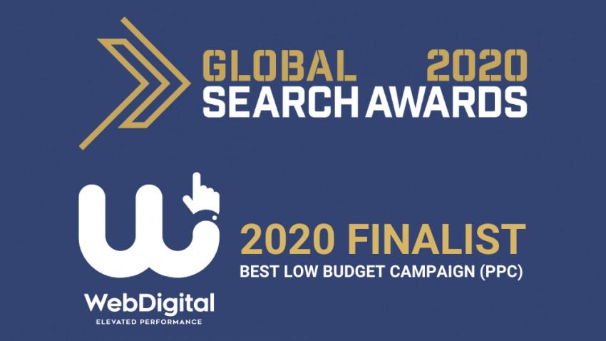 """WebDigital finalista la Global Search Awards cu """"Cea mai buna campanie cu buget redus"""""""