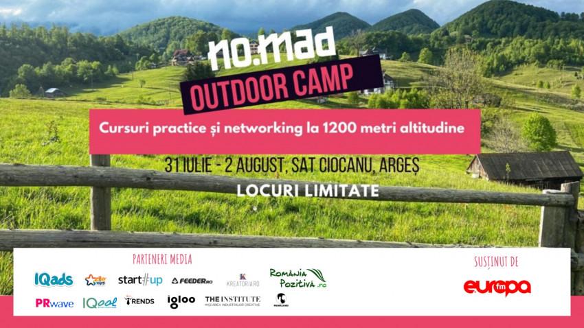 Cursuri practice și networking informal pentru freelanceri la NO.MAD Outdoor Camp