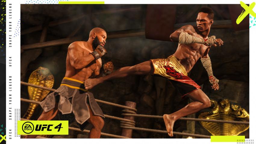 EA Sports UFC 4 a fost dezvăluit oficial sămbătă. Pe coperta jocului vor figura Israel Adesanya, campionul UFC la categoria mijlocie, și Jorce Masvidal, aspirantul la categoria semimijlocie UFC