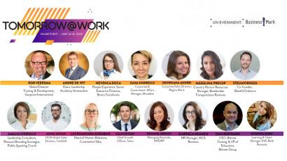 """Provocările din departamentul de HR în contextul pandemei și viitorul forței de muncă - teme de dezbatere la prima ediție online a """"Tomorrow@Work"""""""