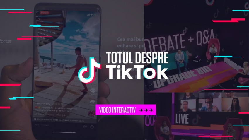 """""""Totul despre TikTok"""": UPGRADE 100 lansează un pachet de informații profesionale despre aplicația social media a momentului"""
