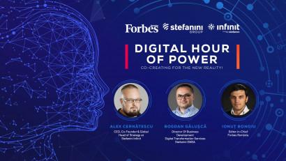 Stefanini Group și Stefanini Infinit (Infinit Agency) se alătură cu mândrie Forbes România pentru a co-crea Digital Hour of Power 2020, eveniment virtual ce va avea loc miercuri, 2 septembrie 2020