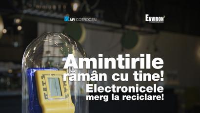 Asociatia Environ - Amintirile raman cu tine, electronicele merg la reciclare