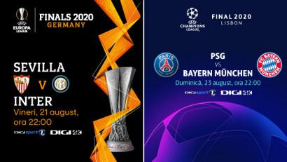 Finalele UEFA Champions League și UEFA Europa League, în direct, la Digi Sport și Digi 4K