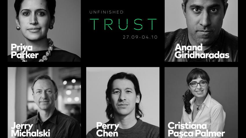 UNFINISHED 2020 - 7 zile de conversații, prezentări și workshop-uri despre încredere.Priya Parker și Perry Chen - printre invitații ediției