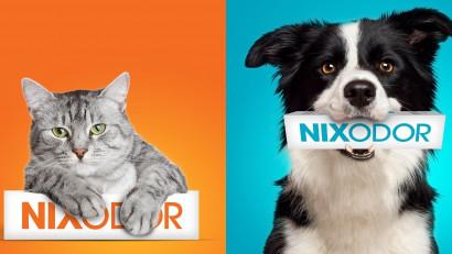 Iubirea pentru prietenii pufoși n-are miros. Identitatea de brand pentru suplimentul alimentar veterinar NIXODOR a fost dezvoltata de Logo Bigger