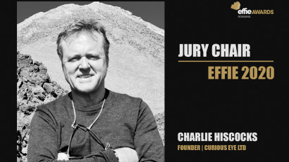 Charlie Hiscocks - Founder Curious Eye Ltd este Președintele Juriului Romanian Effie Awards 2020