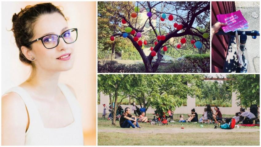 Noii cireșari urbani. Elena Lucaci: Bucurestiul este un oras atat de neprietenos cu copiii. Locurile de joaca sunt transformate in custi