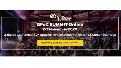 GPeC SUMMIT 2-3 Noiembrie are loc exclusiv online: 2 zile de Conferință, 15 Cursuri Intensive de E-Commerce & Digital Marketing, 30+ speakeri, 38+ ore de conținut practic