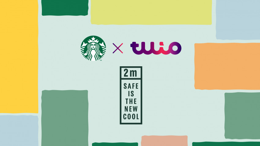 Tuio și Starbucks reinventează cei 2 metri de distanțare socială, în prima campanie națională realizată împreună