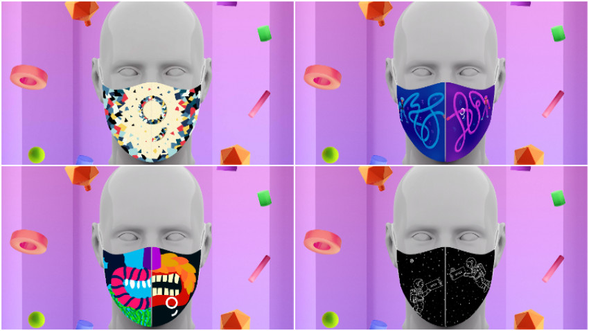 """Cum arată măștile lui 2020. """"A New Now"""" Design Challenge by George și-a desemnat câștigătorii"""