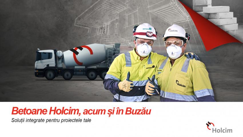 Holcim România livrează betoane și în Buzău