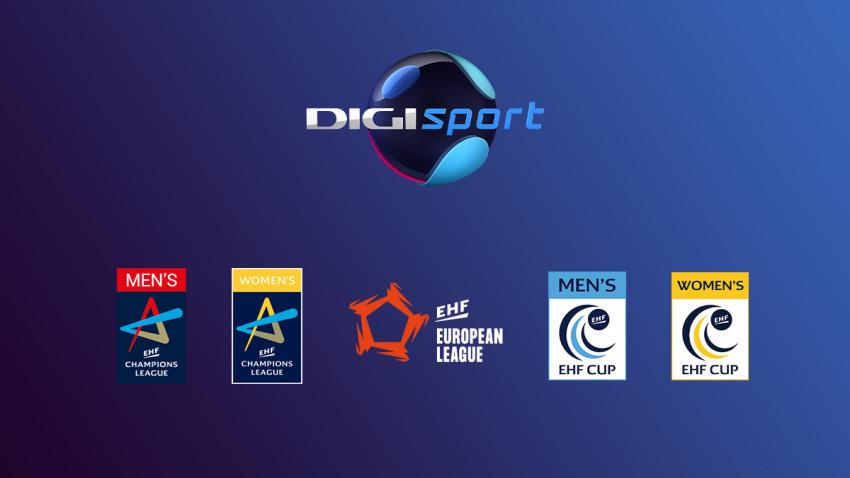 Următoarele 5 sezoane ale cupelor europene la handbal masculin și feminin se vor vedea în direct la Digi Sport
