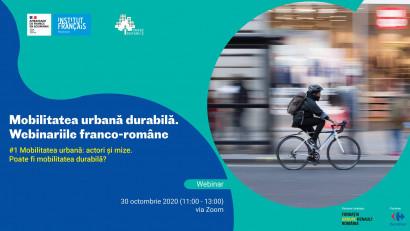 Mobilitatea urbană durabilă. Webinariile franco-române