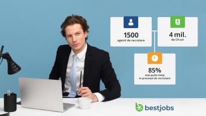 BestJobs lansează serviciul de recrutare BestJobs Agency și oferă noi soluții prin care angajatorii pot reduce timpul de căutare a unui angajat cu până la 85%, iar recrutorii au oportunitatea să obțină venituri în plus