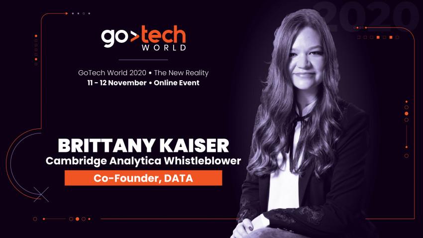 Brittany Kaiser, fost director Cambridge Analytica, vorbește la GoTech World 2020 despre folosirea datelor personale ca metode de influențare a publicului