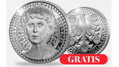 CASA DE MONEDE oferă GRATUIT românilor o medalie aniversarăcu ocazia a 145 de ani de la nașterea Reginei Maria a României