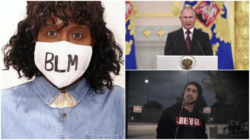 Branduri, dictatori și răposați îndeamnă la vot