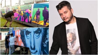 Mihai Zgondoiu și arta de pe tramvaie: Am încercat să împrietenim arta stradală cu locuitorii orașului București