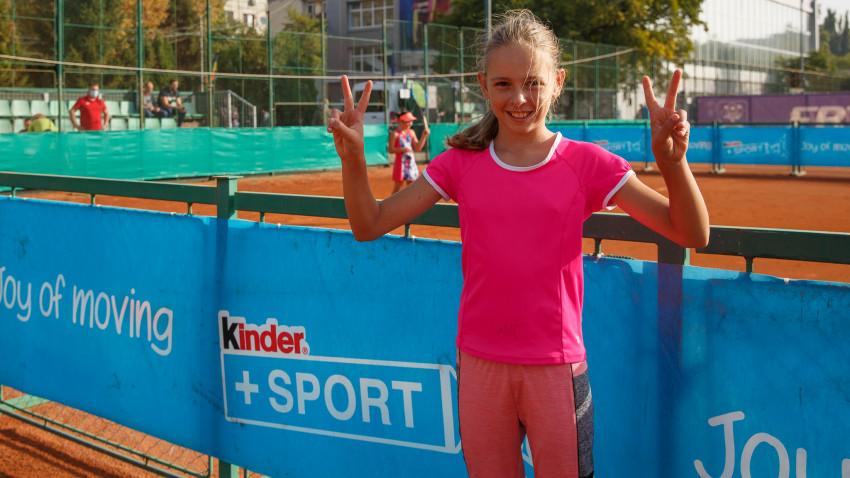 Au fost desemnați cei patru mici câștigători ai competiției de tenis Kinder Joy of Moving Master din România