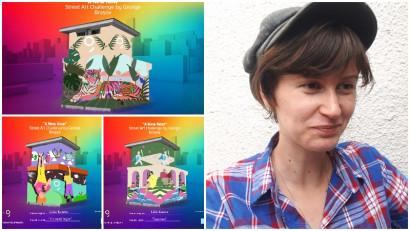[Street Art Challenge] Lidia Kuneca: Inspiratia vine din intamplarile traite, inchisi in casa, cu certuri legate de igiena, cu panica si carantina, teorii conspirationiste