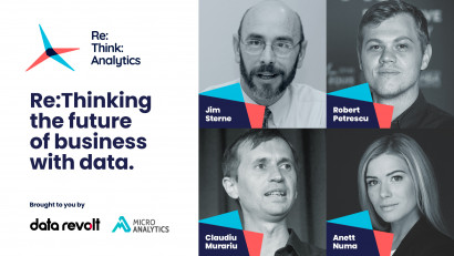 LIVE, mâine, primul eveniment Re:Think:Analytics, cu experți internaționali și locali din domeniul Data & Analytics. Tune in la 1 PM EEST pe rethinkanalytics.ro