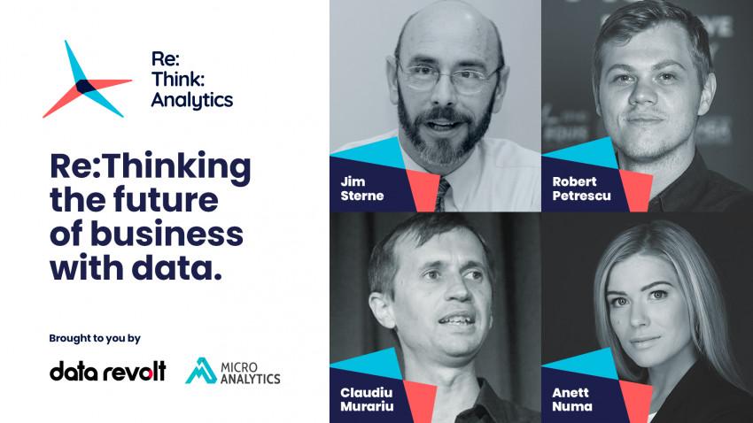 LIVE, mâine, primul eveniment Re:Think:Analytics, cu experți internaționali și locali din domeniul Data & Analytics. Tune in la 1 PM EEST pe rethinkanalytics.ro
