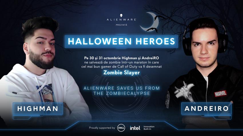 Alienware prezintă Halloween Heroes: Doi vloggeri înfruntă hoardele de zombie într-un maraton de gaming de două zile