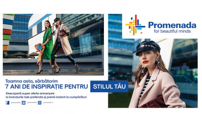 Promenada Mall sărbătorește 7 ani de activitate în România printr-o nouă campanie aniversară, realizată de Mullen