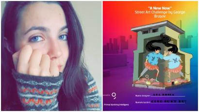 """[Street Art Challenge] Ana Rosca: Imi place foarte mult ideea de """"resuscitare"""" a locurilor asupra carora s-a abatut timpul"""