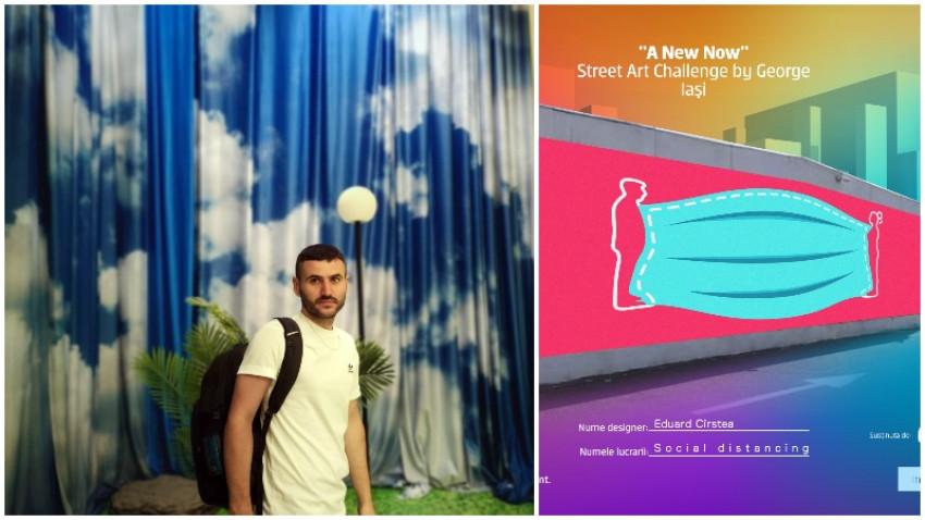 [Street Art Challenge] Eduard Cirstea: E arta care iti permite cel mai mult sa interactionezi cu ea. Sa o privesti, sa o pozezi, sa o atingi, sa te sprijini de ea, sa desenezi peste ea