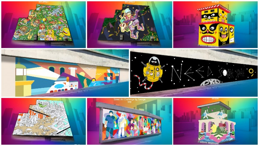 """Arta urbana asteapta votul tau. Alege culorile orasului la """"A New Now"""" Street Art Challenge by George"""