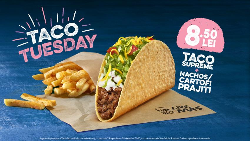 Taco Bell a lansat Taco Tuesday - oferta de marți la Taco, unul dintre cele mai îndrăgite produse din meniu