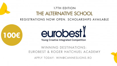 The Alternative School for Creative Thinking: începem înscrierile pentru competiția Eurobest Young Integrated