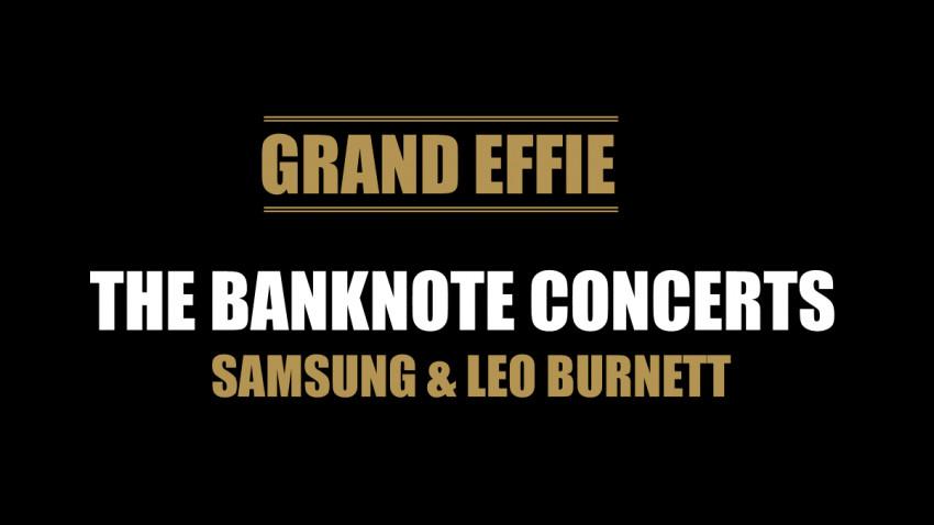 Campania Samsung, The Banknote Concert, câstigătoare a marelui premiu Grand Effie România 2020